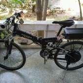 รถจักรยานไฟฟ้า 48V1000W กับแบตลิเทีม Rack 48V28Ah